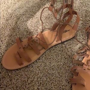 Never worn lace up sandal
